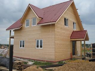 Деревянный дом по каркасной технологии