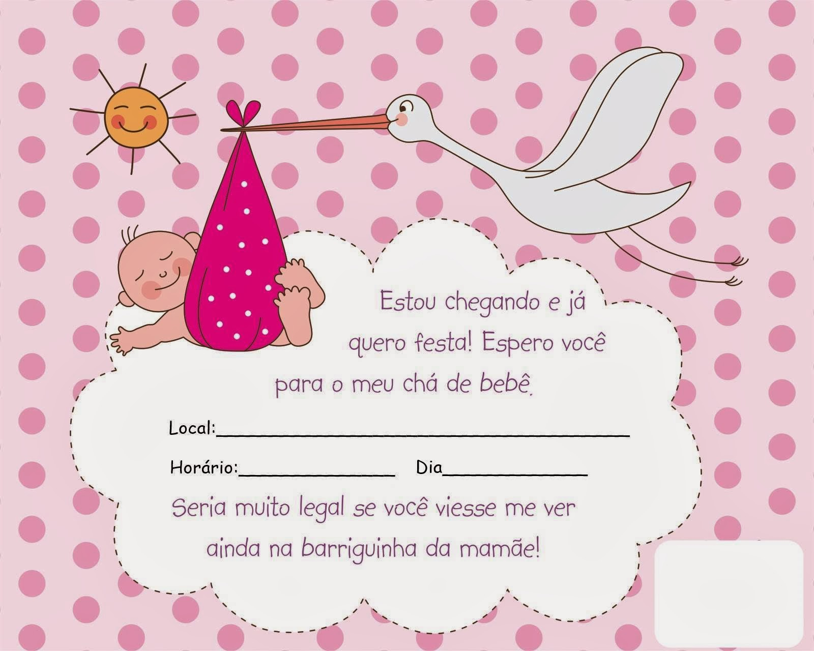 Convites para chá de bebê de menina 9