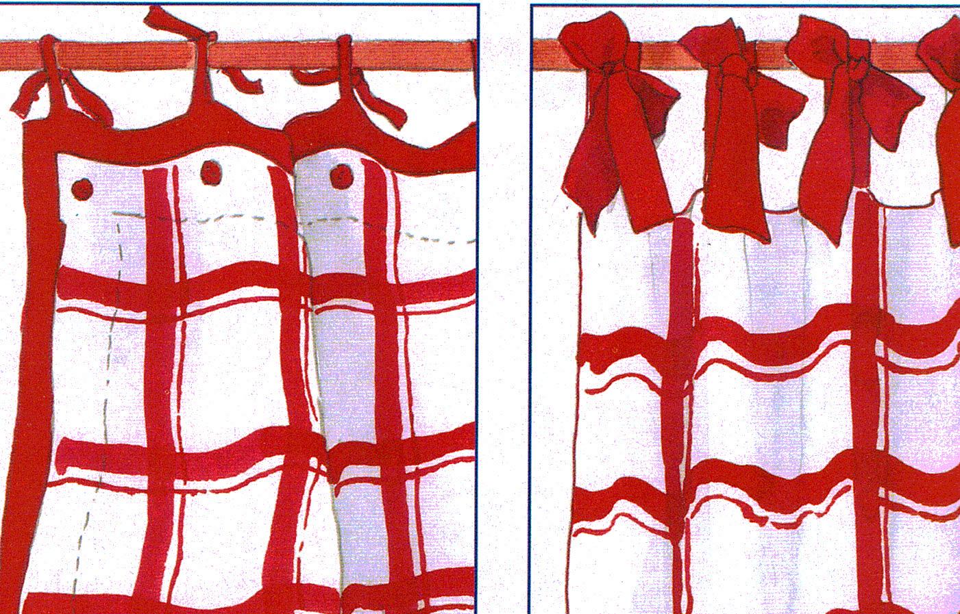Patrones de costura visillos con lazos - Lazos para cortinas ...