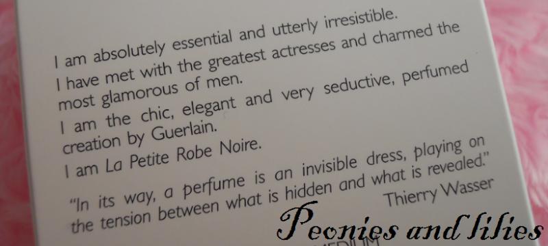 Guerlain la petite robe noire, Guerlain la petite robe noire review, Peonies and lilies