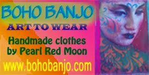 Boho Banjo Art to Wear Beautiful Handmade Clothes by Pearl Moon