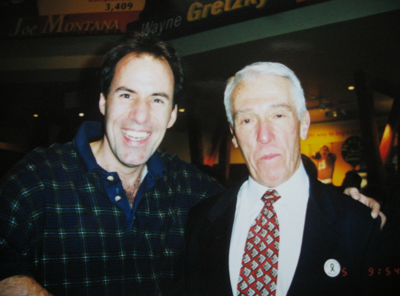 Coach Marv Levy was very happy to snap a few pics with us... very cool!