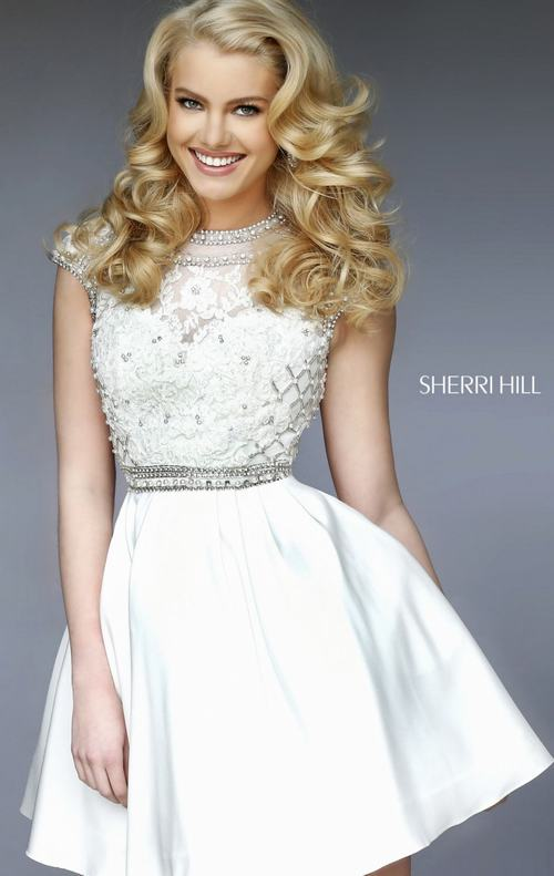 Black lace homecoming dresses sherri hill