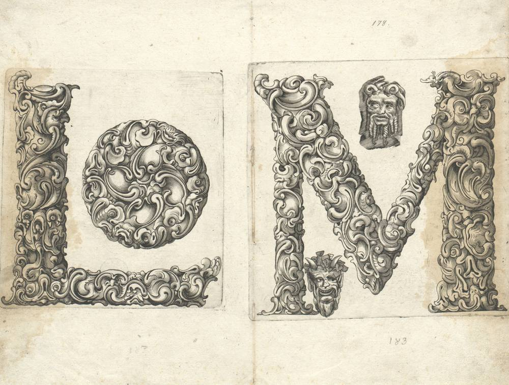 pair of fantasy letterforms - 'l' + 'm'