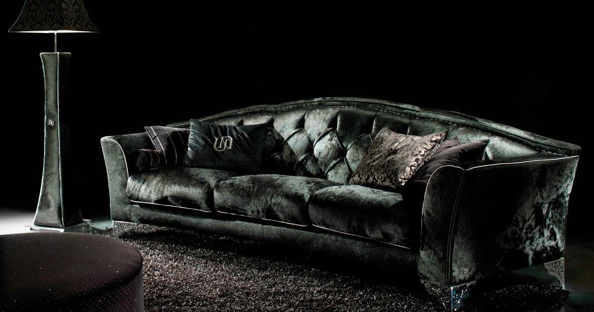 living rooms decor with black velvet sofa freshnist design. Black Bedroom Furniture Sets. Home Design Ideas