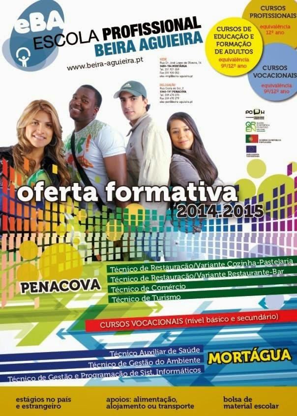 Cursos profissionais 2014 / 2015 em Penacova e Mortágua (Escola Profissional Beira Aguieira)