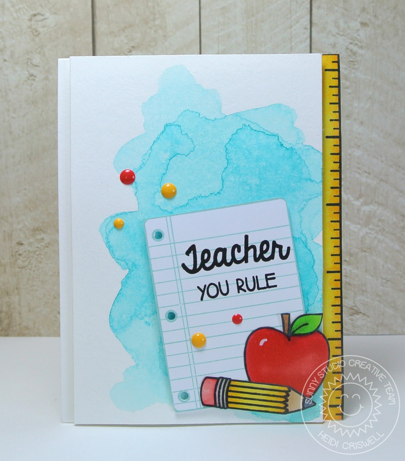 Crafty time 4u teacher you rule featuring school time stamp set kristyandbryce Gallery