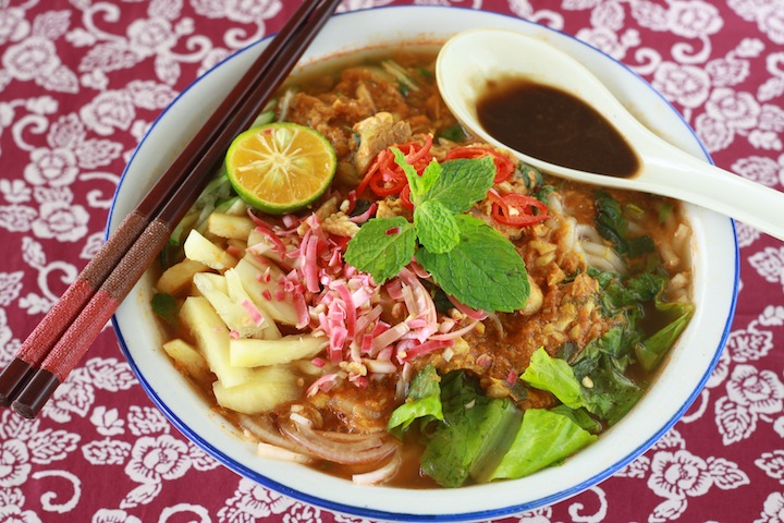 how to make asam laksa
