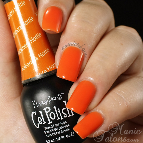 FingerPaints Gel Polish Habanera Hottie Swatch