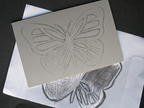 Design on lino block