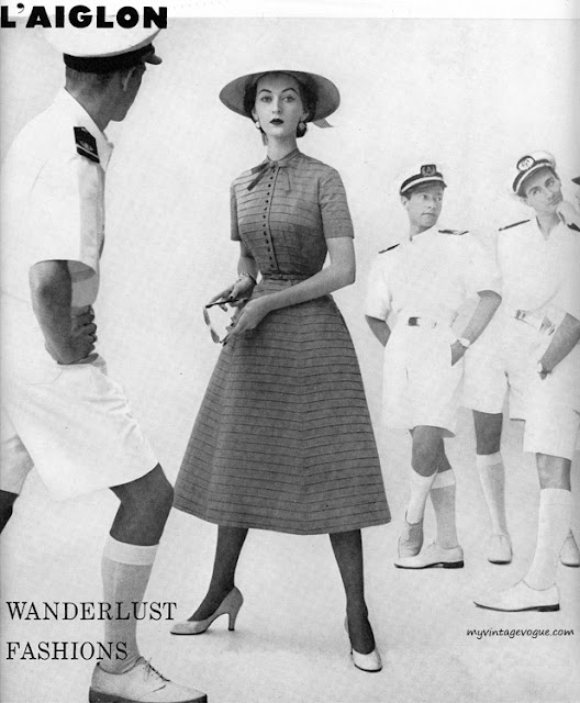 1950s L'aiglon dress advertisment Just Peachy, Darling