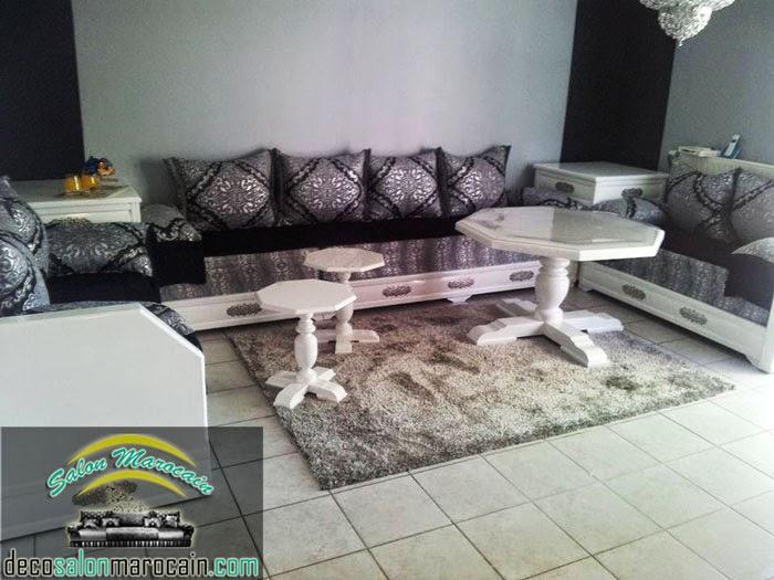 Incroyable Salon Marocain Blanc Gris Moderne