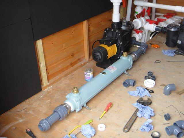 Hybrid Solar Heating And Air Source Heat Pump For Swimming Pool Ufh And Hot Water Www E