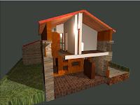 Interior vivienda unifamiliar en Culleredo