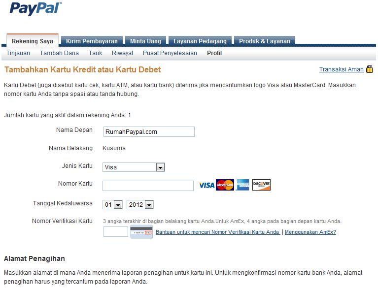 verifikasi paypal tanpa kartu kredit
