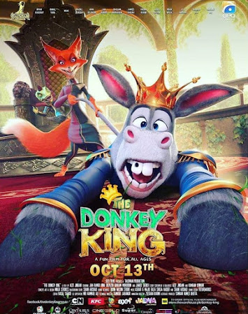 Poster Of Lollywood Movie The Donkey King 2018 300MB Pdvd Full Urdu Movie
