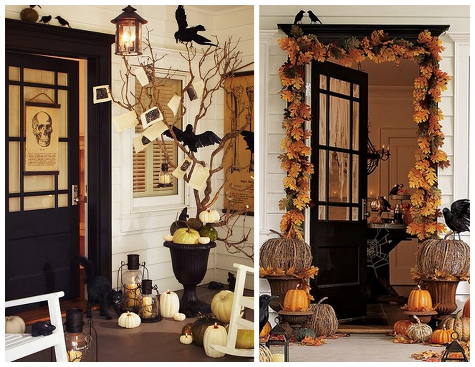 Spanglish chic front porch halloween decoration for Como decorar una oficina en casa