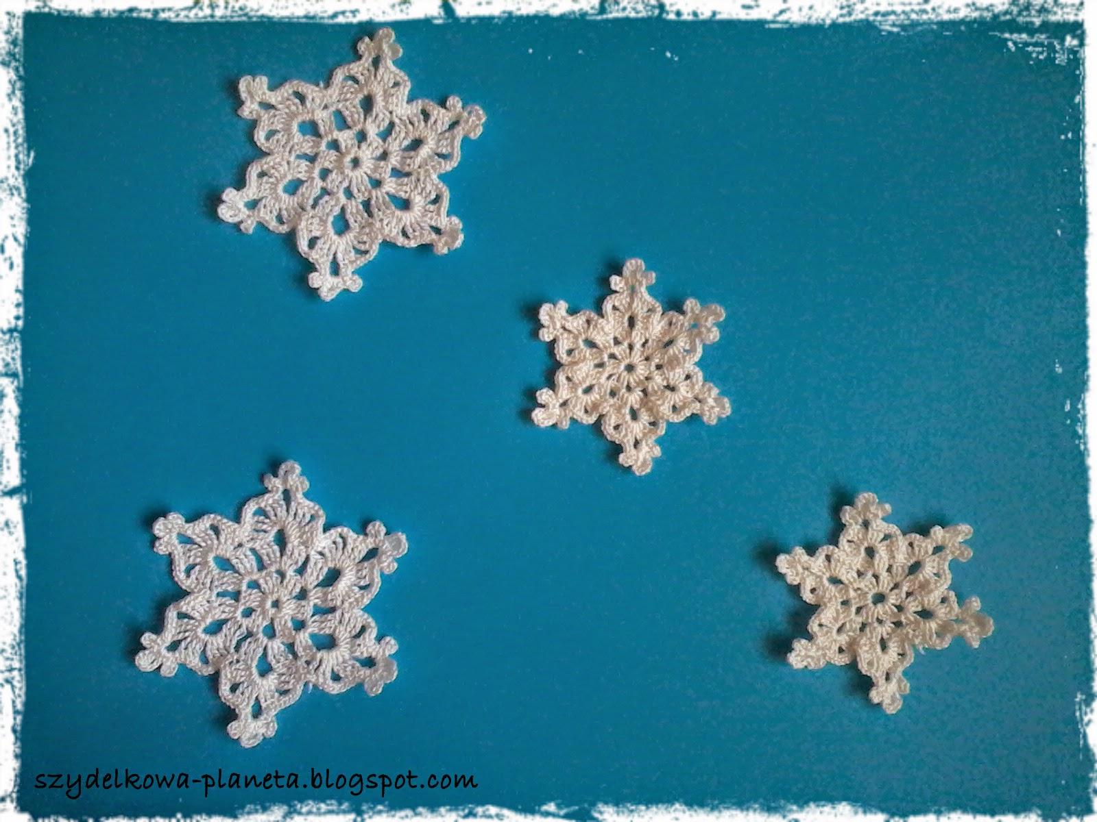 szydełkowe śnieżynki