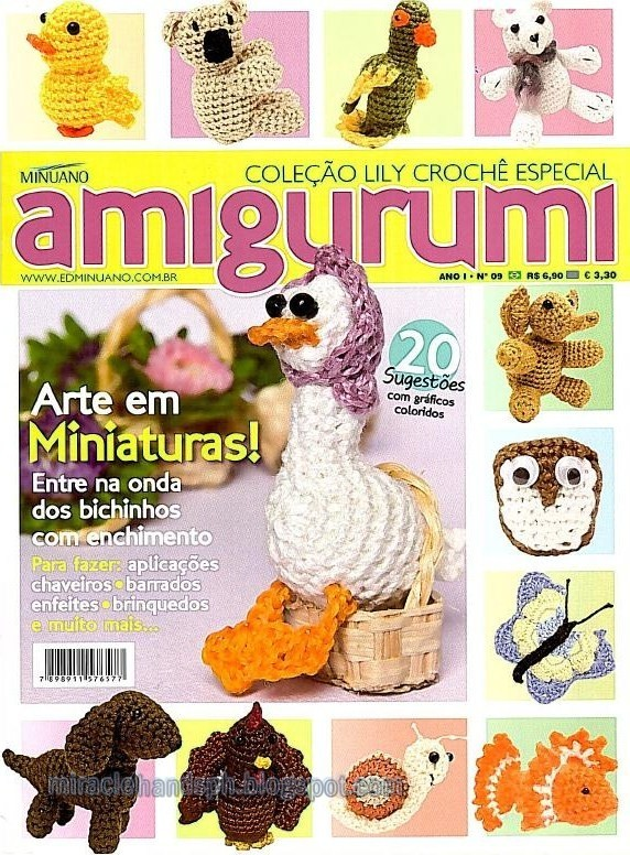 Japanese Amigurumi Magazines : August 2011 ~ Miracle hands