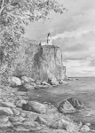 Split Rock, Minnesota Light House Drawing Demonstration