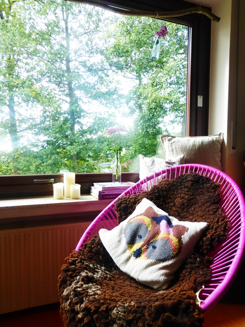 Herbst Dekoration Deko Fenster Kissen Fuchs