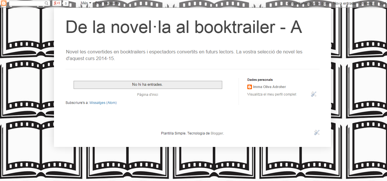 BLOG DE LA NOVEL·LA AL BOOKTRAILER_A curs 15-16