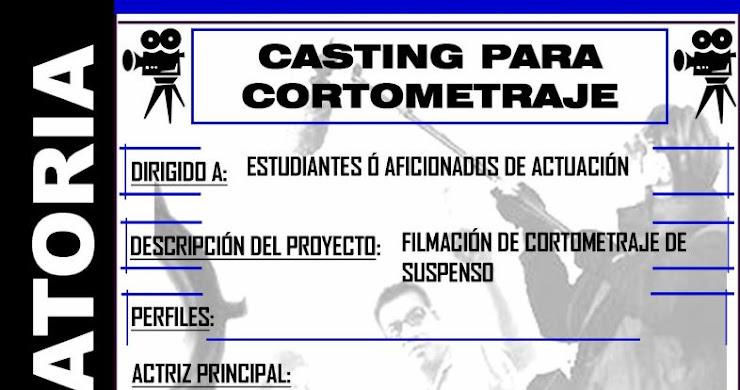 Casting para cortometraje
