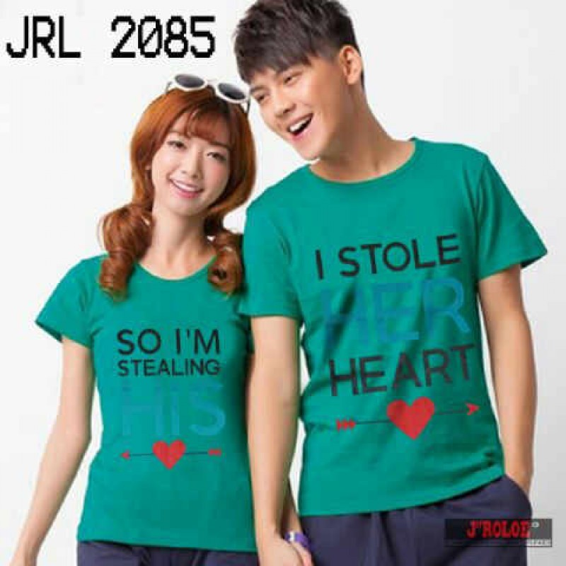 Jual Kaos OB Stole Her Heart Couple Online Murah di Jakarta Lengan Pendek Trendy