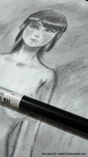 Dibujo con carboncillo