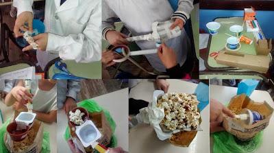 imágenes de palitas para sacar pochoclos creadas por los alumnos