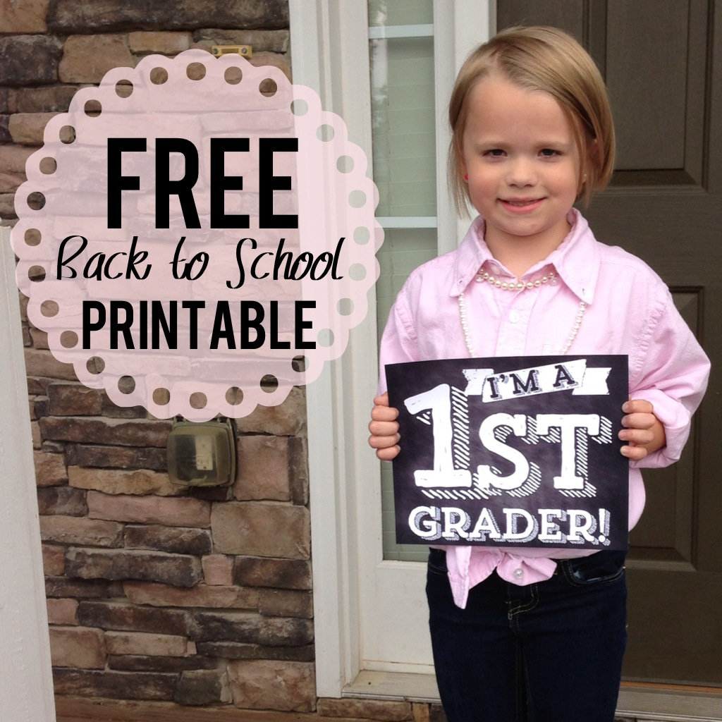 Exhilarating image throughout first day of school sign free printable