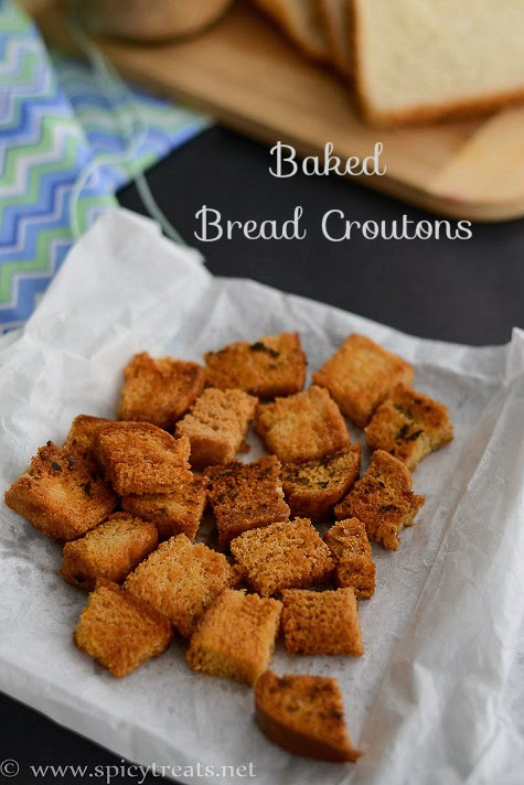 Baked Bread Croutons