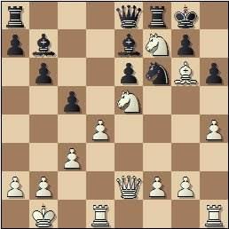 Partida de ajedrez Medina - Llorens, posición después de 19.Ag6