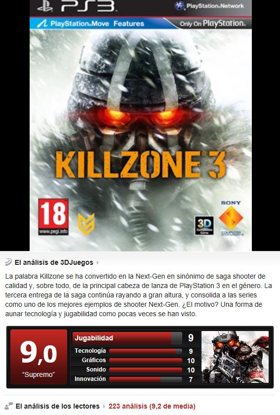 Killzone 3 -PS3-