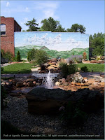 Water and stone landscaping, Agenda, Kansas