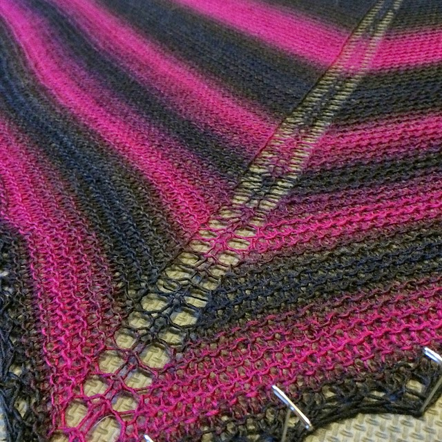 Winter Solstice Rainbow Shawl - Susan Elizabeth