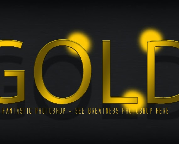 Cara membuat gold text effect8