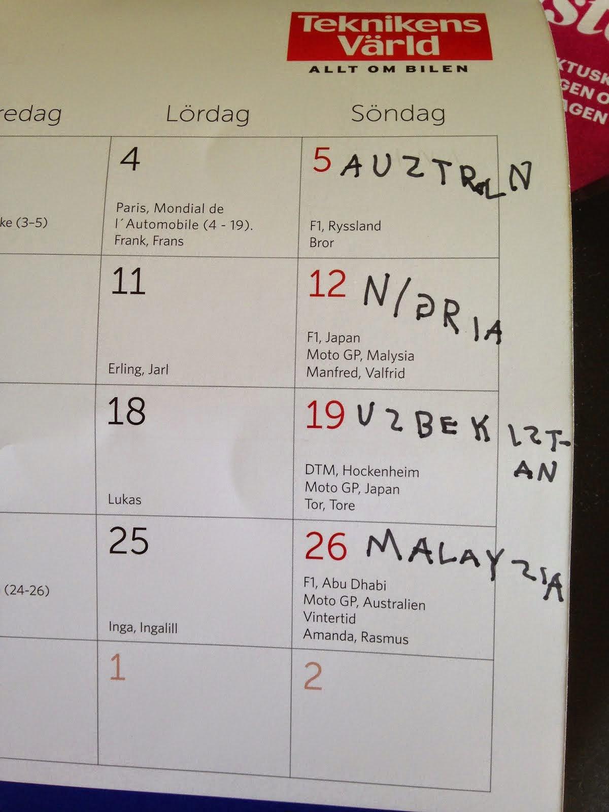 Min almanacka