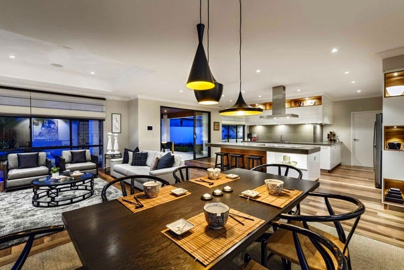 Dining room and kitchen interior decoration