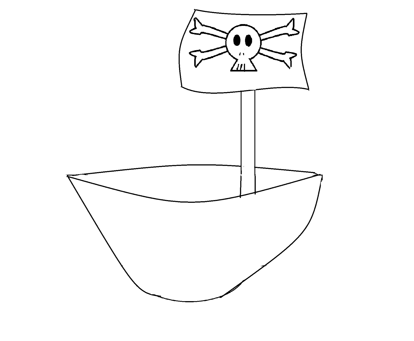 cartoonitt how to draw a toy pirate ship