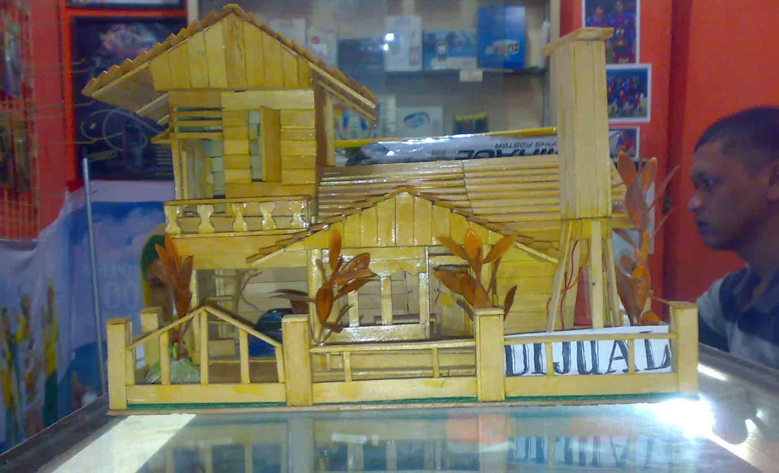 Tutorial Cara Membuat Miniatur Rumah Dari Stik Es Krim - 44 Ide Kerajinan Tangan Dari Stik Es ...