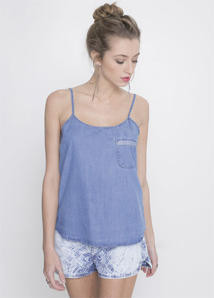 Renner coleção feminina Primavera Verão 2016 regata jeans