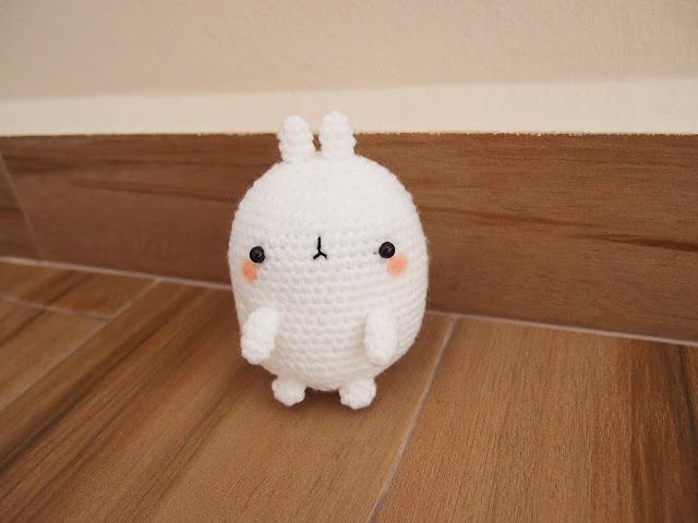 Crocheted Molang amigurumi