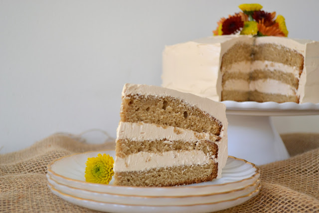 Heart of Gold: Brown Sugar Cake with Caramel Butter Cream Frosting