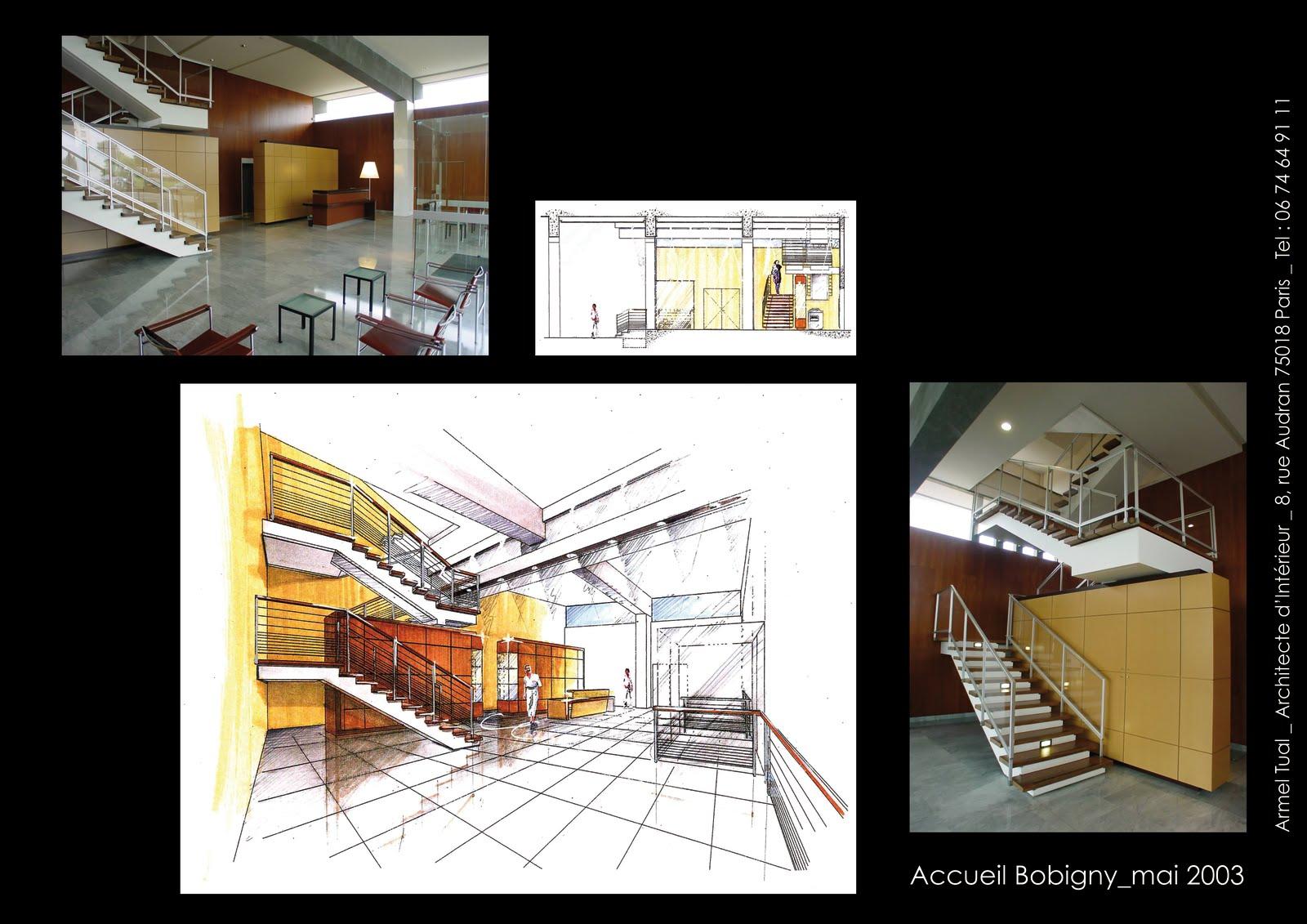 armel tual architecte d 39 int rieur cfai hall d 39 accueil. Black Bedroom Furniture Sets. Home Design Ideas