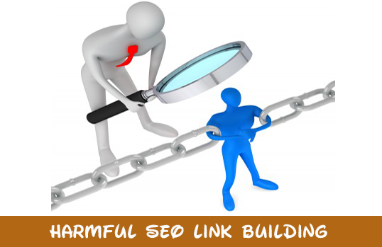 Harmful seo link building strategies