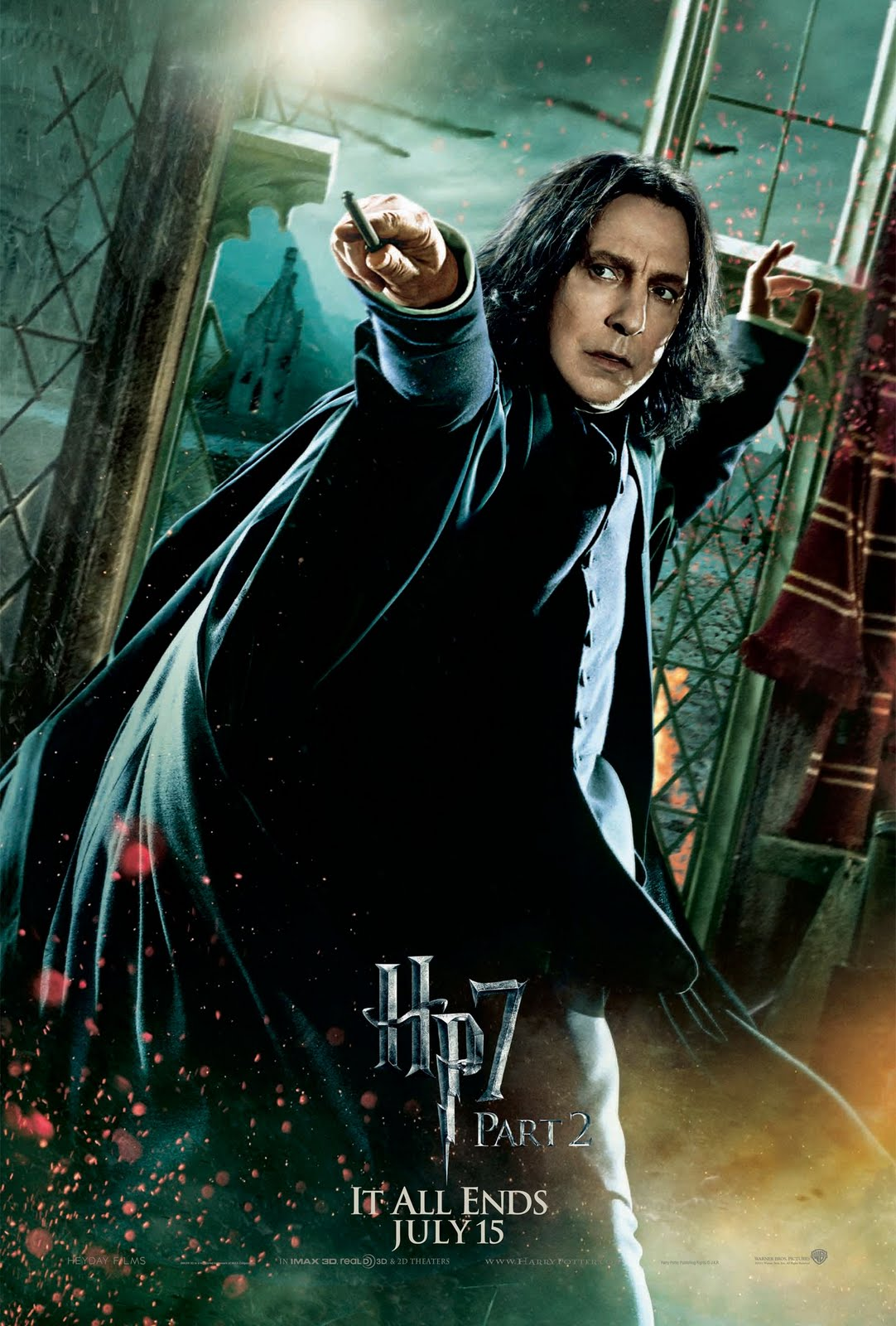 dh2hr snape Harry Potter And The Deathly Hallows Part 2: Posters Galore!