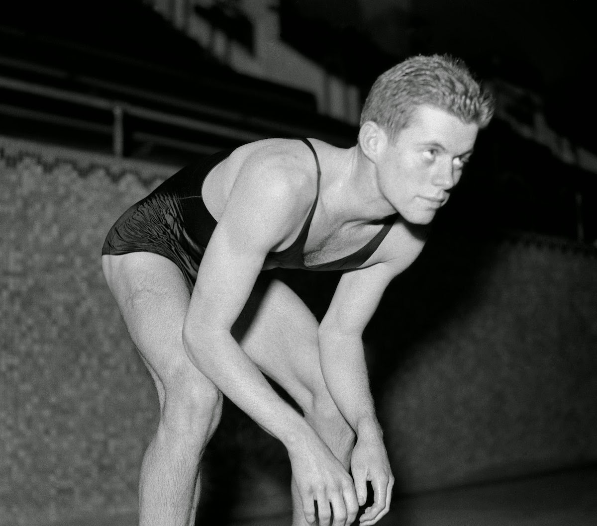 Vintage everyday interesting photos of young john f kennedy swims