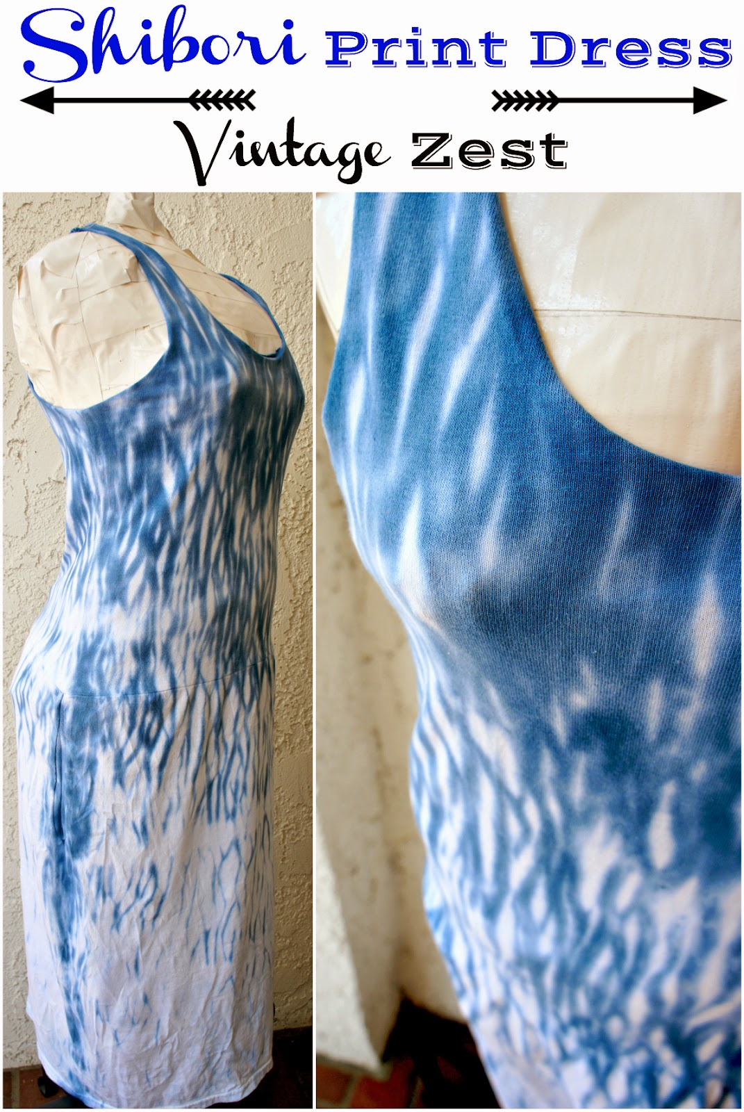 Shibori Print Dress on Diane's Vintage Zest!
