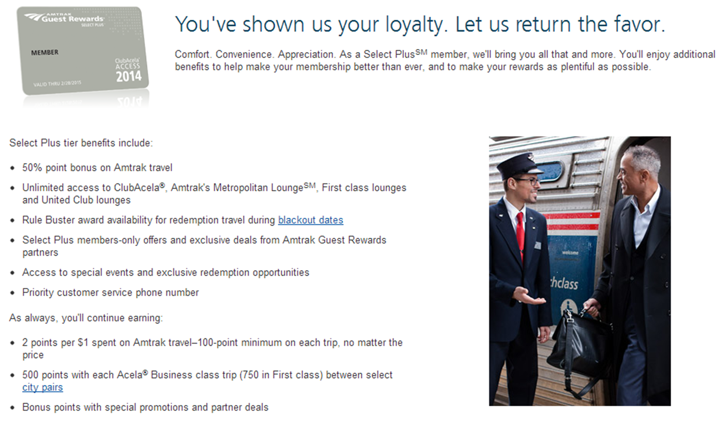 Flying vinny leveraging amtrak select plus elite status for united one of the perks of the select plus membership is that amtrak has a partnership with united so that amtrak frequent travelers can access the 45 united club colourmoves